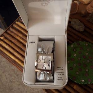 Ladies  silver watch with rhinestone detail